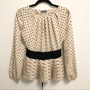 IRONI XS Peplum Waist Tie Heart Long Sleeve